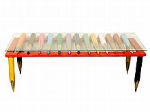 Painted Pencil Coffee Table,
