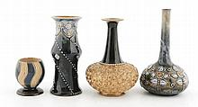 Group of four Royal Doulton vases