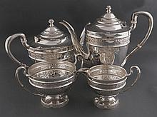 Four piece silver tea and coffee service