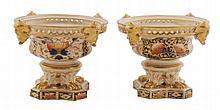 Pair of Crown Derby pot pourri