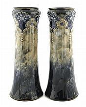 Pair of Royal Doulton beaker vases