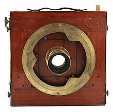 Nineteenth-century mahogany and brass cased camera