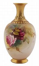 Royal Worcester baluster vase