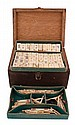 Nineteenth-century cased ivory set of mahjong