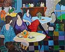 Itzhak Tarkay - Afternoon Tea