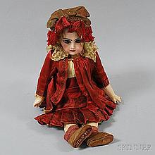 Bébé Jumeau Bisque Head Girl Doll, stamped