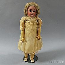Simon & Halbig Bisque Socket Head Girl Doll, impressed