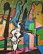 Ronald Von Ehmsen (American, d. 1963) Jazz. Signed