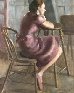 Mary Lewis Ayer (American, b. 1878) Portrait of a Seated Woman Signed