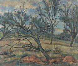 Vaclav Rabas (Czechoslovakian, 1885-1954) Hillside Landscape Signed and dated