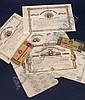 [ Judaica ] (American Judaica) Group of Confederate States of America Loans, printed with the likeness of Judah Benjamin, in denominations of $1000, four $500, and two $2 notes.