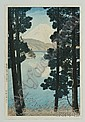 Kasamatsu Shiro: Mt. Fuji from Lake Ashinnoko, (fine impression, color, and condition), framed.