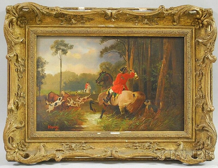 School of Hans Haag (Austrian, 1841-1919) Evening Hunt. Signed