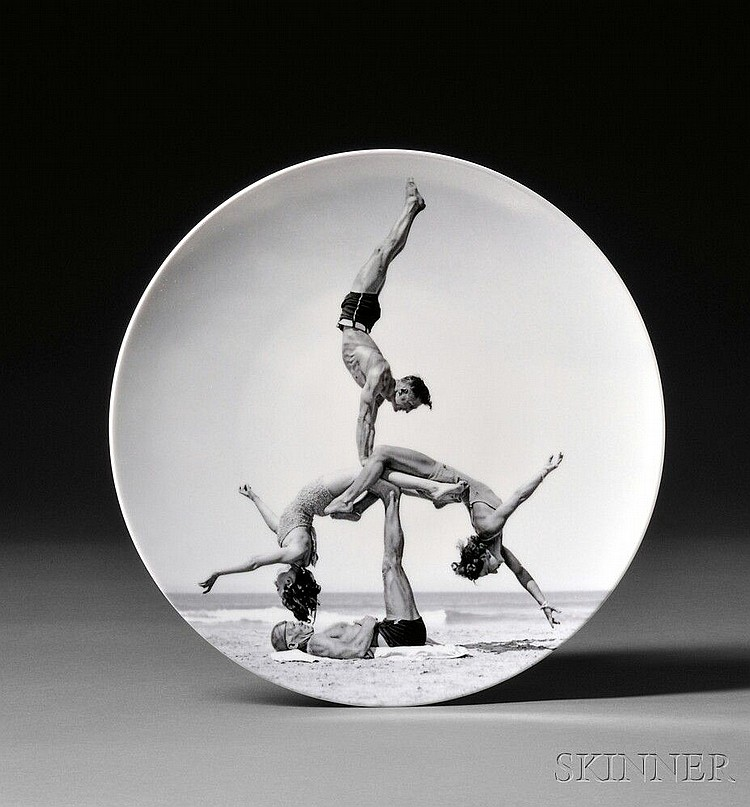 Jeff Koons (American, b. 1955) WOW (Works on Whatever) Plate Edition, 2012, made by Bernardaud, France. Identified on the reverse. Tran