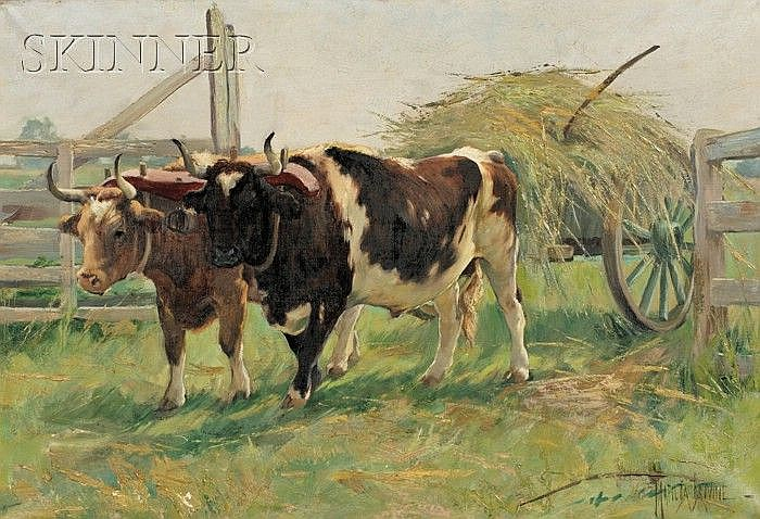 Matilda Browne (American, 1869-1947) The Last Load Signed