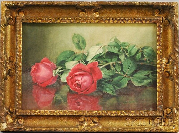Clara Maxfield Arnold (American, 1879-1959) Still Life with Roses. Signed and dated