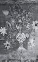 Wool Needlework Picture of a Floral Bouquet, late l8th/carly 19th century, multicolored flowers and