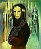 MARIETTE LYDIS (Austrian, 1894-1970). GIRL WITH HA, Mariette Lydis, Click for value