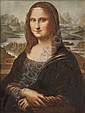 ROSENTHAL HAND PAINTED PORCELAIN PLAQUE OF THE MONA LISA. - 8 1/2 in. x 11 1/2 in. sight size.,  Leonardo