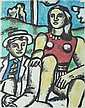 AFTER FERNAND LÉGER. (Connecticut/ California/ France, 1881-1955). SEATED COUPLE, signed