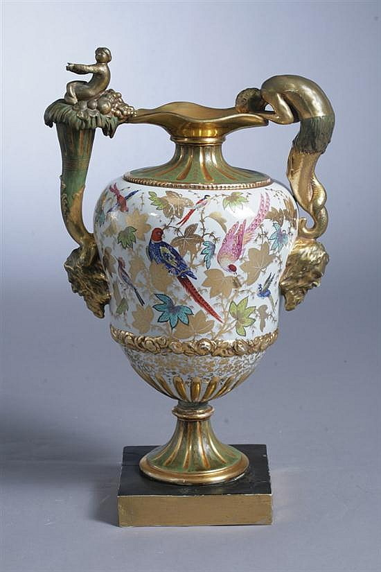 PARIS PORCELAIN VASE, last quarter 19th century. - 27 in. high.