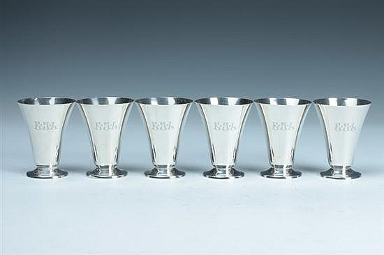 TWELVE GORHAM STERLING SILVER SHERBET CUPS, Gorham and Whiting marks. - 23 oz., 6 dwt.; 3 1/2 in. high.