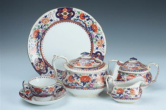 45-PIECE BOOTHS CHINA PARTIAL DINNER SERVICE, A1394 pattern. - 10 1/2 in. diam., dinner plate.