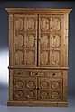 MID-20TH CENTURY PINE OR FRUITWOOD CABINET.