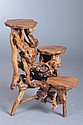 RUSTIC ALPINE ACCENT STAND, 20th century. - 31 in. x 23in. x 24 in.