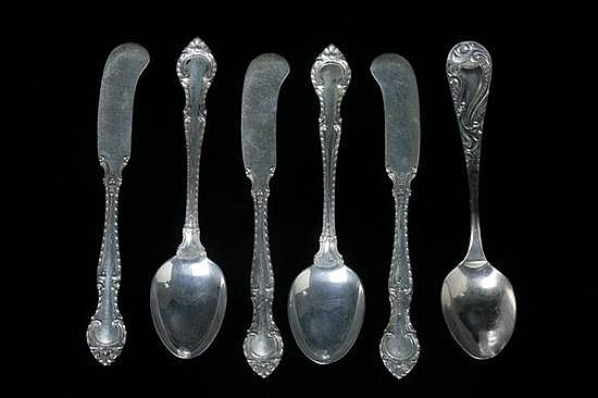 COLLECTION AMERICAN STERLING SILVER FLATWARE. - 24 oz., 2 dwt.