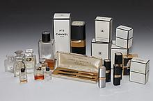 COLLECTION CHANEL SCENT BOTTLES AND ATOMIZERS. - 5 3/4 in. high, tallest.