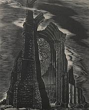 ISAAC FRIEDLANDER (American, b. 1890-1968). CATHEDRAL RUINS, signed and noted