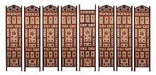INDIAN RETICULATED EIGHT-FOLD SCREEN. - Each panel: 72 in. x 18 in.