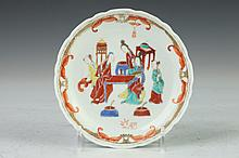 CHINESE EXPORT FAMILLE ROSE PORCELAIN PLATE, - 5 1/4 in. diam.