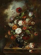 CONTINENTAL SCHOOL (20th century). FLORAL ARRANGEMENT, giclee on canvas.