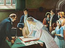 CONTINENTAL SCHOOL (20th century). THE WEDDING, giclee on canvas.