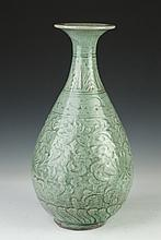 CHINESE CELADON PORCELAIN VASE, 20th Century. - 17 3/4 in. high.