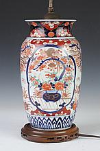 JAPANESE IMARI PORCELAIN VASE, - 10 in. high.