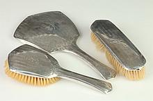 THREE-PIECE J. E. BLAKE CO. STERLING SILVER DRESSER SET,