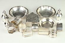 COLLECTION SILVER HOLLOWWARE, 800-950 silver standard. - 17 oz., weighable silver.