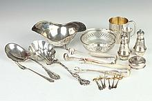 COLLECTION STERLING SILVER HOLLOWWARE AND FLATWARE, - 21 oz., 2 dwt., weighable silver.