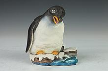 BOEHM PORCELAIN FIGURE GENTOO PENGUIN. 200-11. - 5 3/4 in. high.