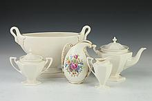 FIVE PIECES LENOX CERAMICS, - 7 3/4 in. high, largest.