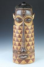 AFRICAN WOOD MASK, - 29 1/2 in. high.