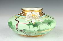 AUSTRIAN PORCELAIN VASE, Circa 1898; Bawo & Dotter factory, decorated in Limoges. - 4 1/4 in. high.