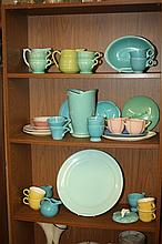COLLECTION CALIFORNIA POTTERY INCLUDING FIESTA WARE. - 14 in. diam., platter.