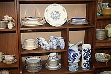 COLLECTION BLUE AND WHITE PORCELAIN AND CERAMICS. - 11 1/2 in. high, largest.