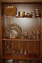COLLECTION GILT-DECORATED GLASSWARE AND CERAMICS.
