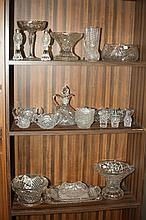 COLLECTION CUT CRYSTAL AND MOLDED GLASS. - 7 3/4 in. high, largest.