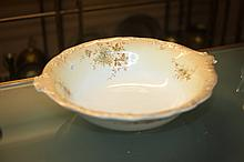 ENGLISH CERAMIC WASHBOWL. - 4 1/2 in. x 18 in.